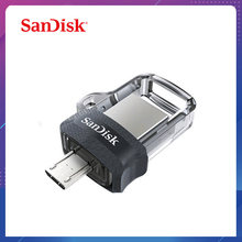 Sandisk extrême clé USB 128GB 64GB 32GB 16GB double lecteur de stylo OTG mémoire haute vitesse U disque Micro USB3.0 carte SDDD3