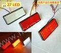 10 * Led reflective patch rear light lamp motorcycle car decoration refires rectangle brake lights turn signal light