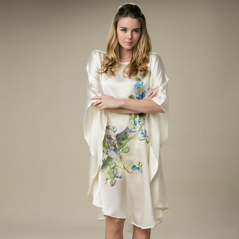 100% slik одежда женские платья шелк тутового шелкопряда платья с принтом стиль платья для беременных женская летняя обувь платье женские пижа...