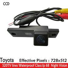 LED Ночного Видения 170 »Широкий Угол зрения водонепроницаемый HD CCD Вид Сзади автомобиля Камера Заднего Вида для Toyota 4 Runner Land Cruiser прадо
