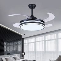 Air purifying ceiling fan negative ion air purification fan with lamp invisible ceilng fan lamp