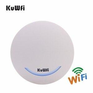 Image 3 - KuWfi 600 ميغابت في الثانية اللاسلكية نقطة الوصول السقف AP موزع إنترنت واي فاي 48 V POE المزدوج الفرقة داخلي AP راوتر واي فاي مكرر موسع واي فاي إشارة