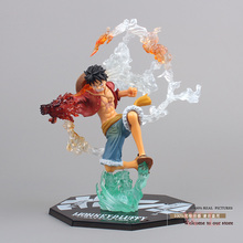 """Free Shipping 7"""" One Piece Monkey D Luffy Battle Ver.  Boxed PVC Action Figure Collection Model Toy Gift OPFG228"""