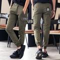 New 2016 military style cargo pants for lovers elastic waist casual pencil pants men pantalon homme men's clothing  /XXK16