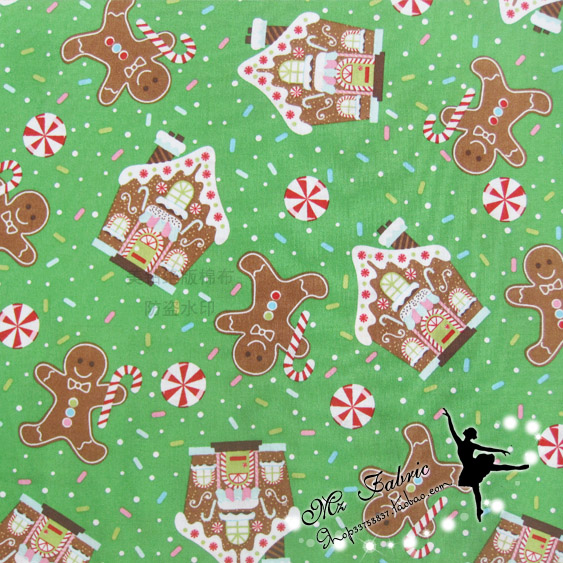 100 110cm merry christmas tree gingerbread man fabric patchwork printed cotton fabric for tissue kids bedding home textile in fabric from home garden on