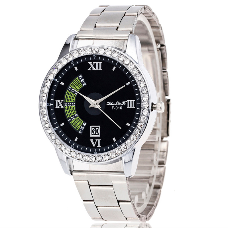 Date Men's Watch Luxury Military Stainless Steel Sport Quartz Roman numberals Wrist Hour Dial Watch Mens relogio masculino