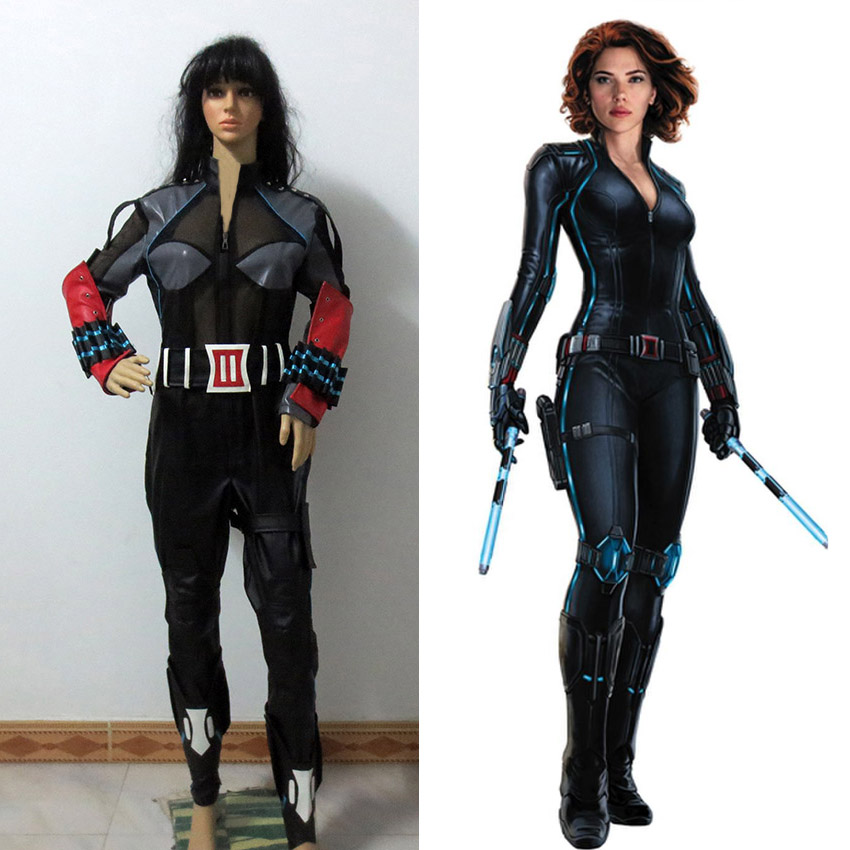 The Avengers Black Widow Cosplay Costume Black Widow Natasha Romanoff Superhero Costume Custom Made Any Size
