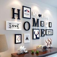 European Stype Home Design Wedding Love Photo Frame Wall Decoration Wooden Picture Frame Set Wall Photo Frame Set wall painting