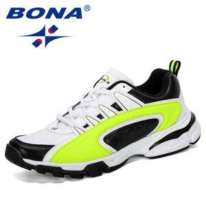 Image 4 - BONA 2019 ออกแบบใหม่ผู้ชายรองเท้าวิ่งกีฬารองเท้ากลางแจ้งรองเท้าผ้าใบ Trainers Zapatos De Hombre รองเท้าชาย