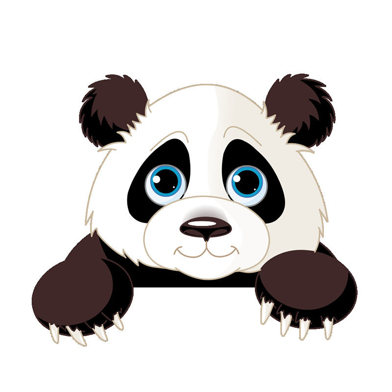Lucu Kartun 3d Stereo Gajah Kucing Panda Beralih Tongkat
