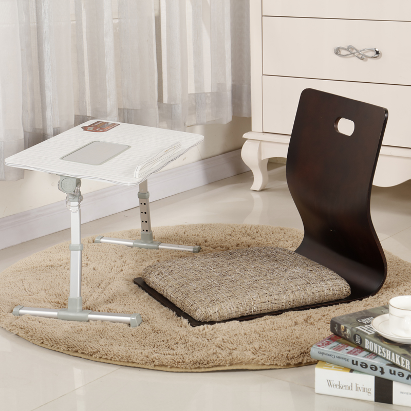 (2pcs/lot) Japanese Chair Design Home Living Room Furniture Kotatsu Table Chair Tatami Zaisu LegLess Floor Chair Black Finish