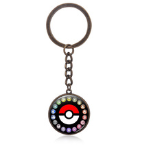 Pokemon Necklace Glass Pendant Poke Ball Jewelry Accessory