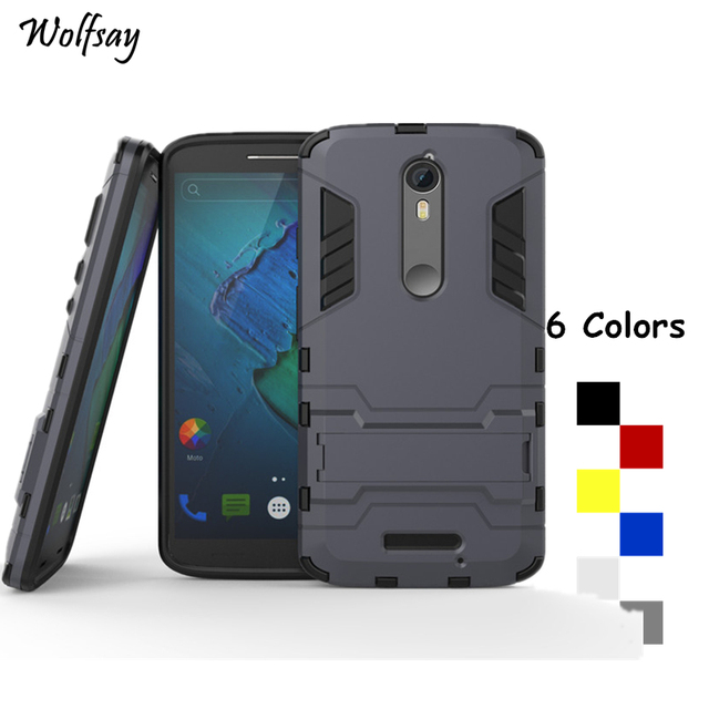 Wolfsay For Cover Motorola Moto X Force Case Robot Armor Phone Case For Motorola Moto X Force Phone Cover For Moto X Force <