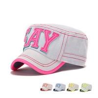 New Men's Women's Denim Letter Snapback Cap Sports Travel Sunshade Flat Peak Hat Adjustable