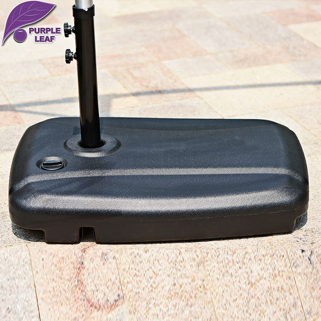 Purple Leaf Plastic Square Water InjectionSelf Filled Patio Umbrella Base /Stand