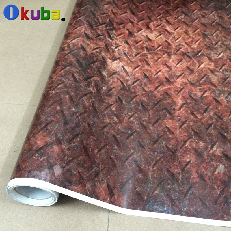 Iron Rusty Style Car Rust Protection Vinyl Car Wrap Hydrographic Film Camo Camouflage Foil 1.52*30m/roll arctic camo vinyl wrap camouflage vinyl film black white vehicle wrap sheets snow camo roll 1 52 5m 10m 30m