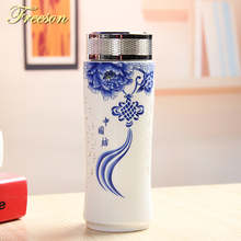 dc845f877f Retro Chinese Porcelain Thermos Ceramic Termos Classic Thermocup Vacuum  Flask Office Cup Tea Cup Friend Gift