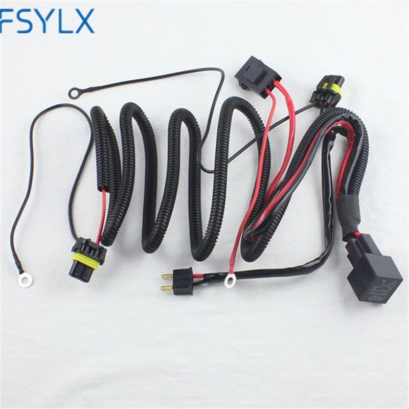 FSYLX 12V 35W 55W 75W HID H7 h8 h11 9005 9006 Wire Harness Controller for Car Headlight Retrofit connect