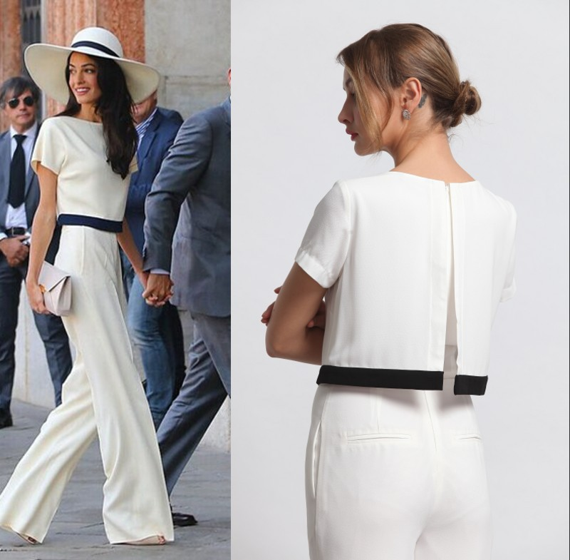 Images of White Pant Jumpsuit - Reikian