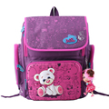 New Cartoon Bear Butterfly Pattern Children School Bags Girls Orthopedic School Backpacks Kids Satchel Durable Mochila Escolar