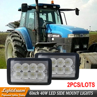 9846126 9846125 For New Holland 8670,8770,8870,8970,8670A,8770A,8870A,8970A 12v 24v Tractor Led Work Lights 40W x2pcs free ship