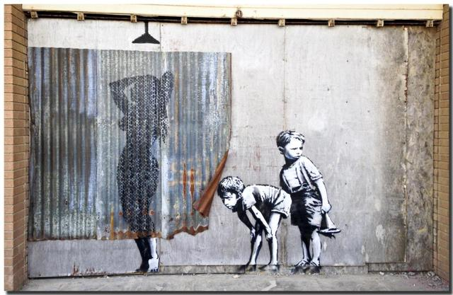 Banksy Street Art Graffiti Canvas Poster Hd Fabric Painting Poster