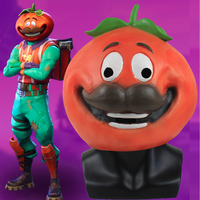 Battle Royale Mask Cosplay Latex Helmet Tomato Head Game Crown Temple Crown Cute Hood Masque Halloween Party Props Costumes
