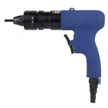 цена M5-M6 Threaded Rivet Nut Pneumatic Riveter Air Rivet Nut Gun Pull Nut Nail Gun Air Riveting Tool Electric Cordless Riveter Gun онлайн в 2017 году