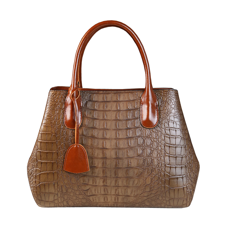 New casual woman leather handbag crocodile pattern high quality split leather bags handbags women famous brands office work tote new fashion women handbag women s handbags famous brands female shoulder bag crocodile pattern handbag lady high quality bags