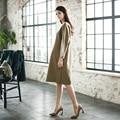 Elegant Maternity Dress Loose Clothes suit for Woman Pregnant Long-sleeve One-piece dress Fashion Cotton Women's Clothing vestir
