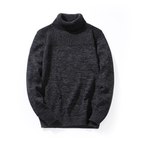 2018 Mens Sweaters And Pullovers Winter Coarse Wool Cotton Turtleneck Men Male Knitwear Slim Fit Knitting Men Pullover for Men