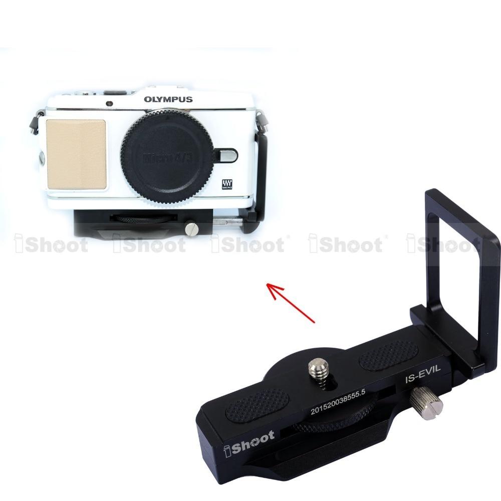 Adjustable L Vertical Quick Release Plate Camera Holder Bracket Grip for Olympus Pen E-PL7 E-PL6 E-PL5 E-PL3 E-PL2 E-PL1 E-P5 aneex e km410
