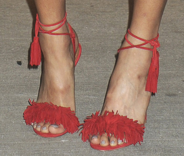 ff66bd514b1 Sexy High Heel Summer Shoes Sandals Women Suede Tassel Gladiator Sandals  Open Toe Designer Fringe Style Ankle Tie Lace Up Shoes -in Women s Sandals  from ...