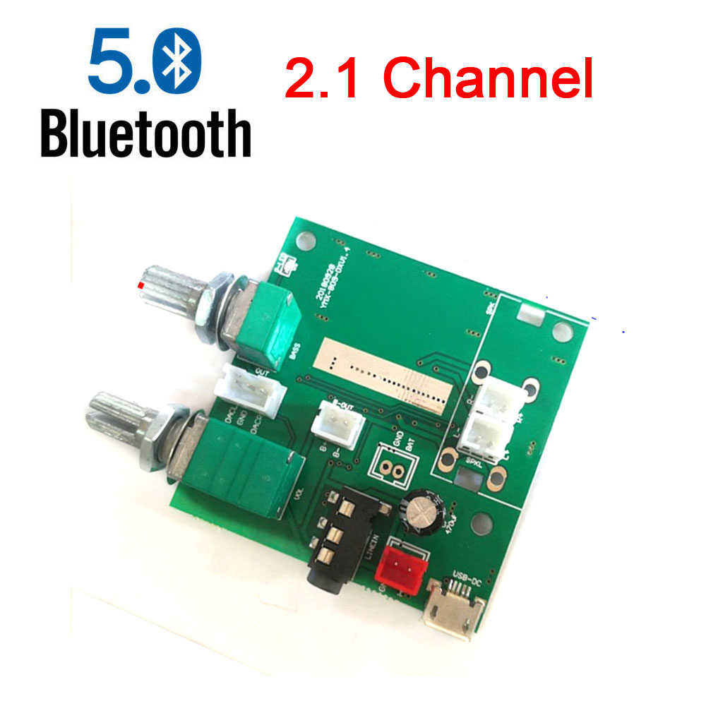20W 5.0 Bluetooth 5V 3A 2.1 Channel 3D Stereo Amplifier Audio Digital AMP Board FOR MP3 MP4 PC PHONE image
