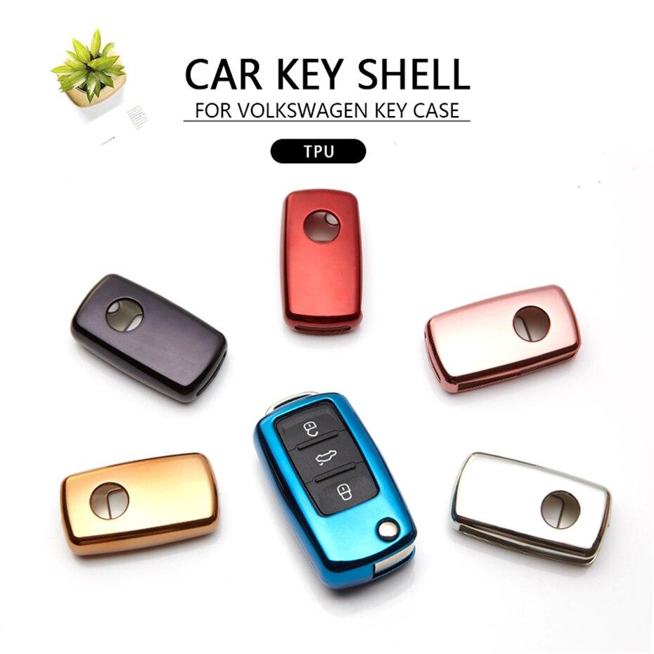 KUKAKEY Car Key Case Cover For VW Golf Bora Jetta POLO GOLF Passat For Skoda Octavia A5 Fabia For SEAT Ibiza Leon Protect Shell