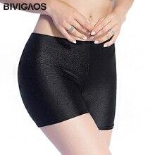 BIVIGAOS חדש נשים מכירה לוהטת Slim שחור מבריק מכנסיים Chinlon דק מבריק קצר סקסי שלל מכנסיים קוטב ריקוד מכנסיים קצרים נשים 3 צבע