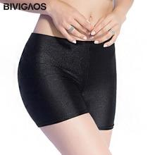 BIVIGAOS Новый Горячая распродажа; женская обувь тонкие черные блестящие шорты чинлон тонкие блестящие короткие сексуальные обтягивающие шорты, туфли для танцев на шесте шорты для женщин 3 цвета