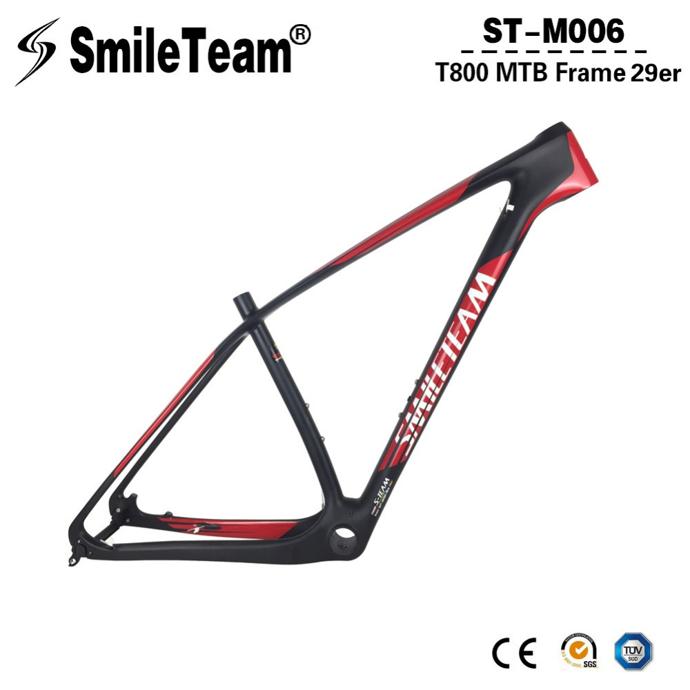 SmileTeam T1000 Full Carbon Mountain Bikes Frame 29er Carbon MTB Bicycle Frame 142*12mm Thru Axle Carbon Fibre Bike Frame smileteam 29er 27 5er carbon mtb frame 650b t1000 full carbon mountain bike frame 142 12 thru axle or 135 9mm qr bicycle frame