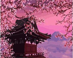 Cioioil T112 Sakura Berbunga Misterius Jepang Pemandangan Mewarnai