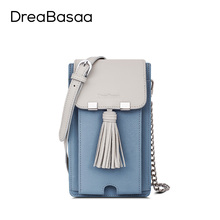 Dreabasaa 2016 Fashion Small Bag Genuine Leather Cell Phone Pocket Sheepskin Key Chain Holder Phone case Women bag