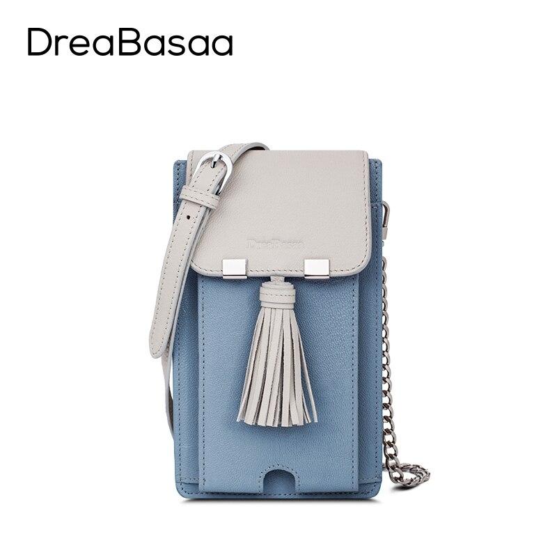 ФОТО Dreabasaa 2016 Fashion Small Bag Genuine Leather Cell Phone Pocket Sheepskin Key Chain Holder Phone case Women bag