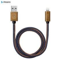 Дата-кабель Jeans USB - 8-pin для Apple, медь/джинса, MFI, 1.2м, синий, Deppa