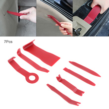 цена на 7pcs Universal Plastic Red Portable Car Interior Door Panel Refitting Audio Disassembly Tool
