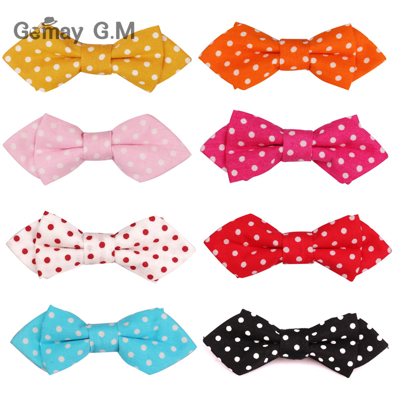 New Fashion Boys Bowtie Cotton Dots Neckwear Adjustable Children Bow Tie for Party England Style Girls ties