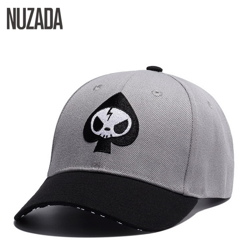 Brand NUZADA Cotton Embroidery Hats Snapback Bone Cap Men Women Baseball Caps Ventilation Holes Cartoon Design Summer new high quality warm winter baseball cap men brand snapback black solid bone baseball mens winter hats ear flaps free sipping