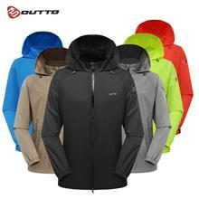 Outto мужские быстросохнущие кожаные куртки пальто уличная спортивная одежда походная куртка водостойкая анти-УФ