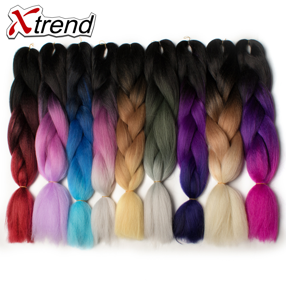 Helpful Xtrend Purple Ombre Kanekalon Braiding Hair Expressions 24 100g Synthetic Jumbo Braids Crochet Hair Fiber 10pcs Heat Resistant Strengthening Sinews And Bones Jumbo Braids Hair Extensions & Wigs