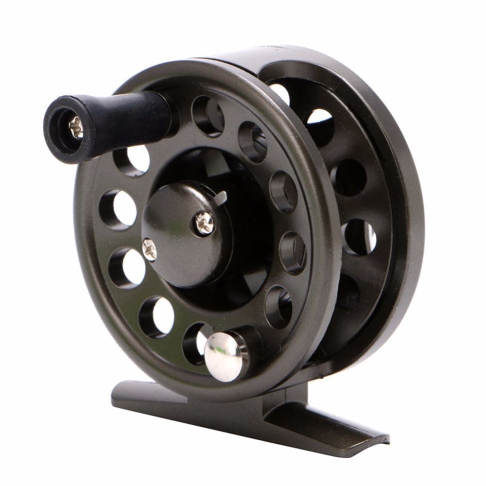 LumiParty Right Hand Fly Fishing Reel Plastic Body Super Strong Light Raft Ice Sea Fishing Wheel Reel