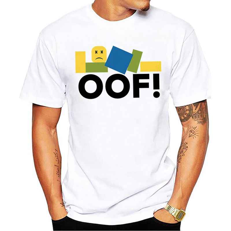 Roblox Oof Summer Fashion T Shirt Men S Short Sleeve Cotton