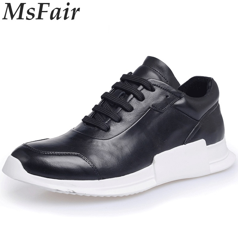 MSFAIR 2018 New Men Running Shoes Outdoor Athletic Sport Shoes For Men Men Sneakers Walking Shoes Genuine Leather Man Brand msstor retro women men running shoes man brand summer breathable mesh sport shoes for woman outdoor athletic womens sneakers 46